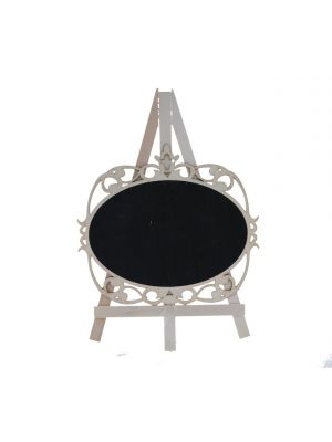 BLACK BOARD EASEL OVAL