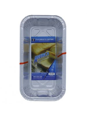 AL FOIL LOAF PAN 2 PACK 8.66 IN X 4.76 IN