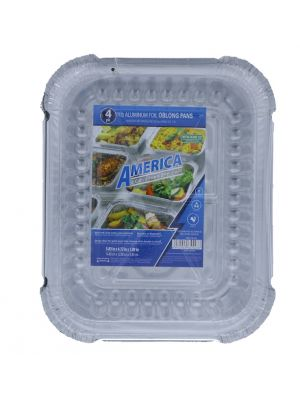 AL FOIL 4 PACK PAN WITH LID 5.83 IN X 4.72 IN
