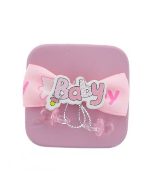 BABY TIN CAN FAVOR BOX PINK