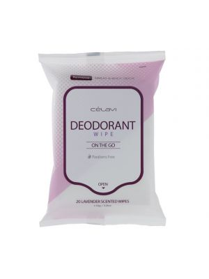 LAVENDER DEODARANT WIPES 20 COUNT