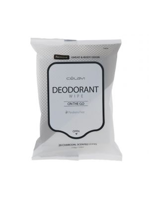 CHARCOAL DEODARANT WIPES 20 COUNT