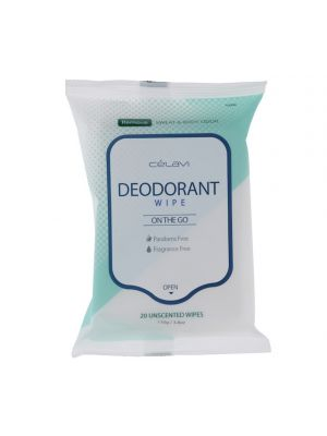 UNSCENTED DEODARANT WIPES 20 COUNT