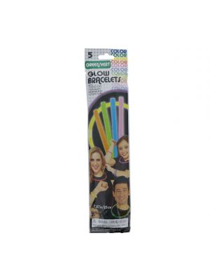 GREEN 8&ampampampampampquot GLOW BRACELET 5 COUNT