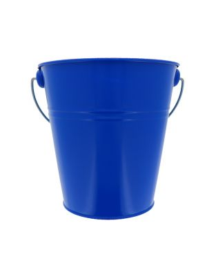 ROYAL BLUE TIN METAL BUCKET