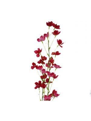 ARTIFICIAL ABUTILON PICTUM FLOWER 37 INCH RED
