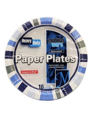 PAPER PLATES HEAVY DUTY 16 COUNT 8.62 INCH