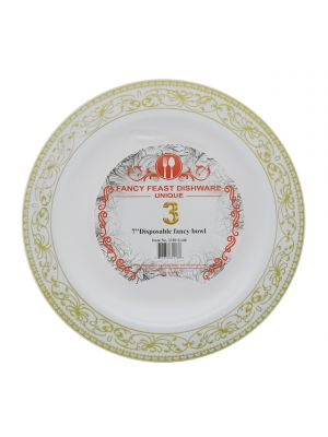 DISPOSABLE FANCY BOWL 7 INCH 3 PACK