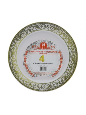 DISPOSABLE FANCY BOWL 4 INCH 4 PACK