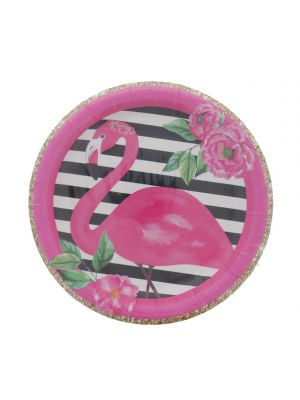 FLAMINGO PLATE 7 INCH 8 COUNT