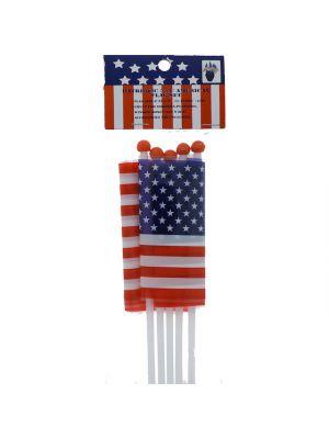 MINI AMERICAN FLAG 5 COUNT 6 IN L X 4 IN 3