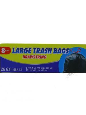 LARGE TRASH BAG 26 GALLOON 8 BAG