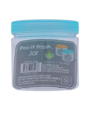 PLASTIC JAR 16.9 OZ ROUND