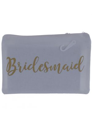 POUCH ZIP BAG BRIDESMAID 6.5 INCH X 9 INCH
