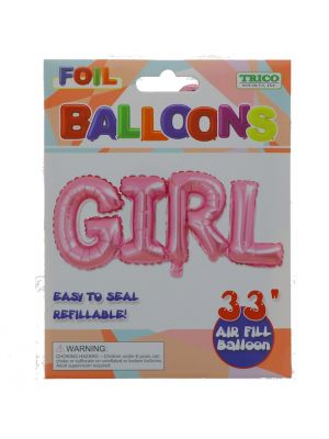 GIRL FOIL BALLOON 33 INCH