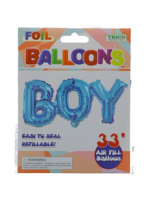 BOY FOIL BALLOON 33 INCH