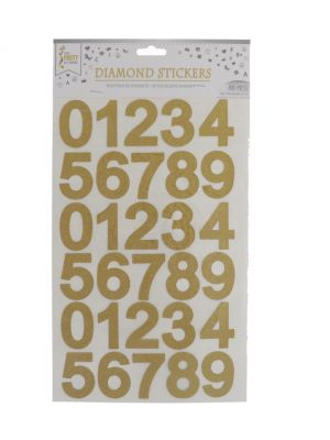 GOLD NUMERICAL STICKER 1 SHEET