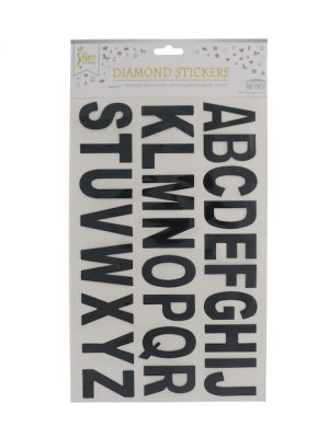 BLACK LETTER STICKER 1 SHEET