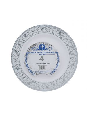 DISPOSABLE FANCY PLATE 7 INCH 4 COUNT