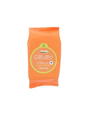 Celavi Vitamin Makeup Remover Cleansing Wipes 30 Sheets