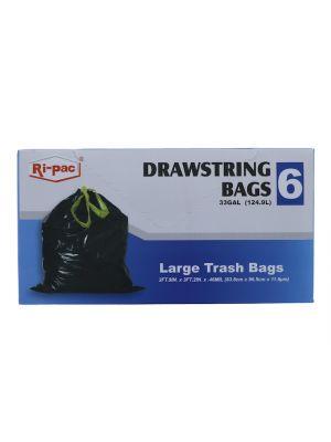 LARGE TRASH BAGS 6 PC  33GL