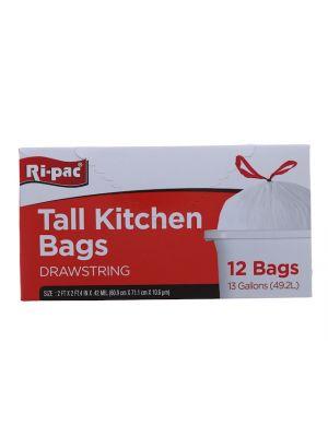 TALL KITCHEN BAGS 12 PC   13GL