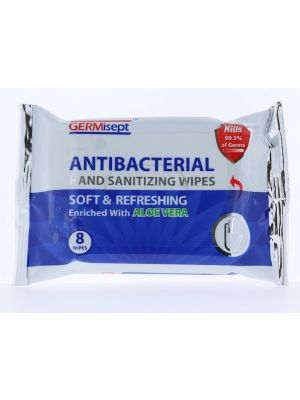 ANTIBACTERIAL HAND WIPES 8PC