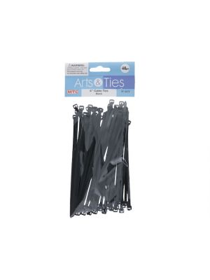CABLE TIES-BLACK 40PC