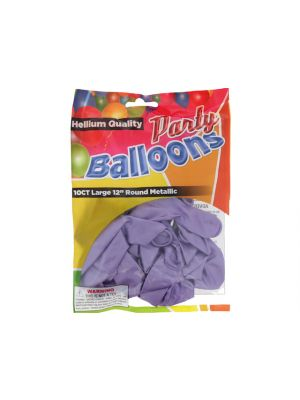 Lavender 12 In Large Latex Party Balloons 5 Count