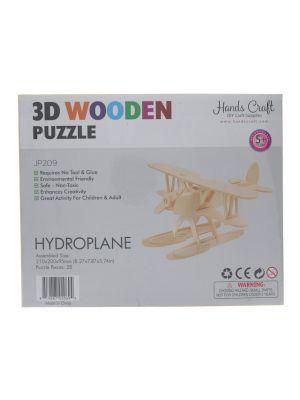 3D WOOD PLANE PUZZLE