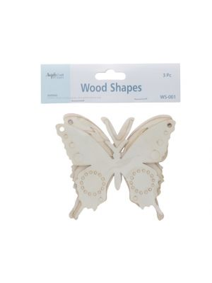 LASER CUT WOODEN BUTTERFLY 3 COUNT
