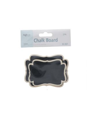 BANNER SHAPE CHALKBOARD WITH STAND 2 COUNT