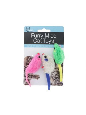 FURRY MICE CAT TOYS