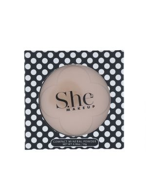 SHE COSMETICS PRESS POWDER SOFT BEIGE