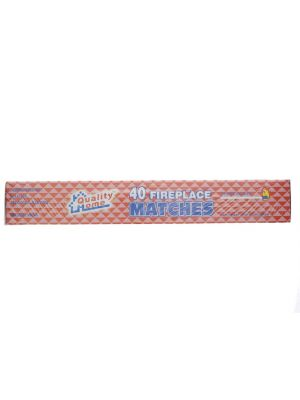"""11"""" Long Wooden Fireplace Matches 40 Pack"""