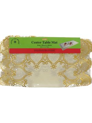 CENTER TABLE MAT GOLD 33 X 15.75 IN