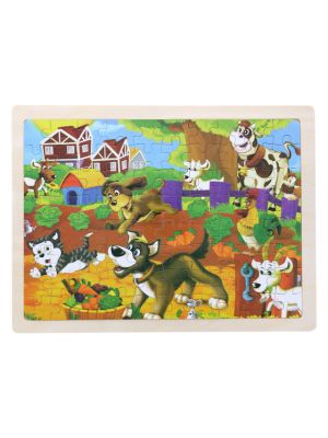 Wooden Ranch Puzzle Set for Kids, 80 pieces Puzzle For Kids, Learning Toys, Educational Toys - Size: 12 x 9 in