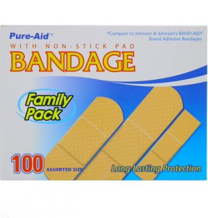 BANDAGE WITH NON STICK PAD
