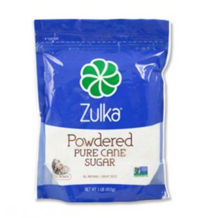 ZULKA POWDERED CANE SUGAR 1 POUND