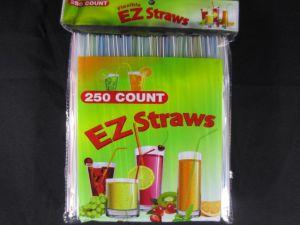 EZ Plastic Straw 250 Count