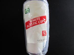 WHITE PLASTIC CUPS