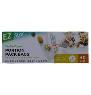 PORTIONS PACK BAGS 40 BAGS 3 12 INCH X 5 78 INCH
