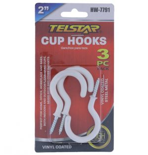 CUP HOOKS 2 INCH 3 COUNT