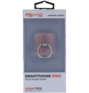 PRIMO UNIVERSAL RED GLITTER SMARTPHONE RING