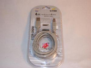 2036 USB A PLUG TO USB B 6FT