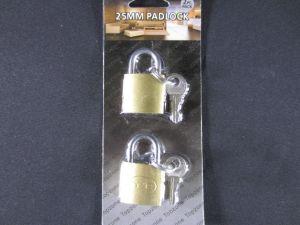 PADLOCKS 25MM 2PC