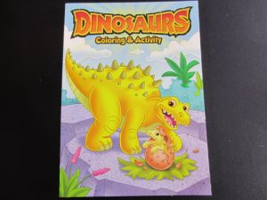 DINOSAURS COLORING AND ACTIVITY