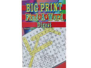 BIG PRINT FIND A WORD