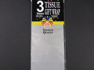 Tissue Gift Wrap Paper Silver 3 Count