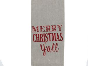 CHRISTMAS SAYING TOWEL